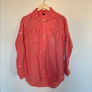 Gap Kids Boys Summer Wash Shirt Pink XXL